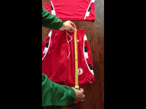 Basketball uniforms   sizing chart instructions from brand 40
