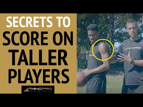 """How to score on tall defenders (must watch - secrets from a 6'9"""" professional basketball player!)"""
