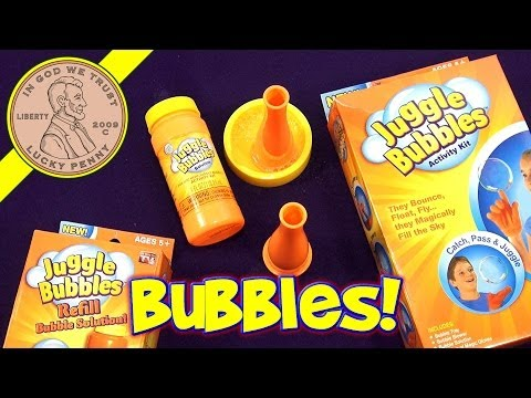 Juggle bubbles activity kit - they bounce, float and fly, as seen on tv