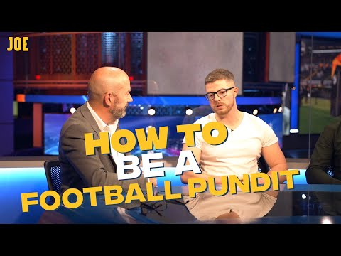 How to be a champions league football pundit