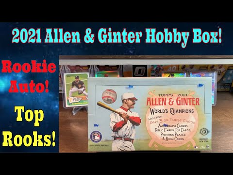 2021 allen & ginter hobby box. we hit a rookie auto! tops rookies! interesting product.
