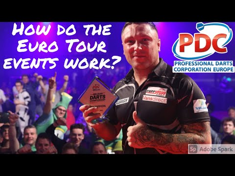 How does the darts european tour work?