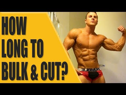 How long to bulk and cut for?