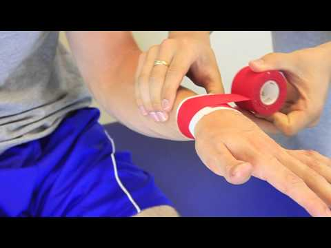 Simple wrist taping for football or rugby