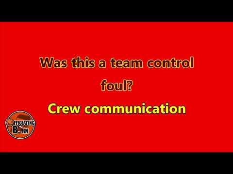 Is this a team control foul or a common foul?