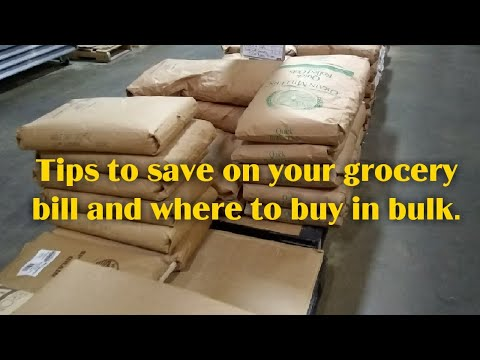 Tips to save on your grocery bill and where to buy in bulk.