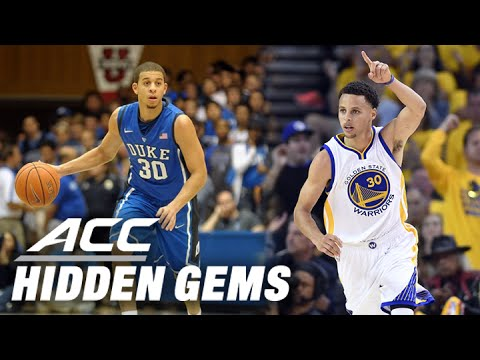Steph curry's brother seth has crazy shooting half vs unc   acc hidden gems