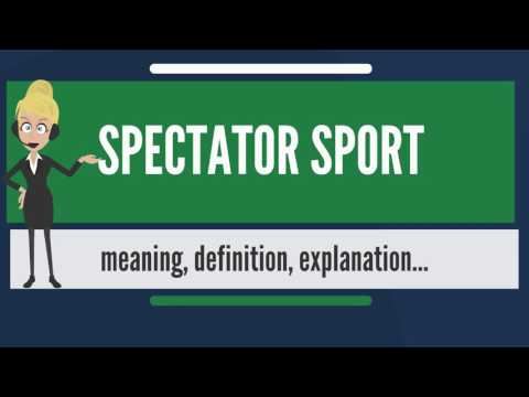 What is spectator sport? what does spectator sport mean? spectator sport meaning & explanation