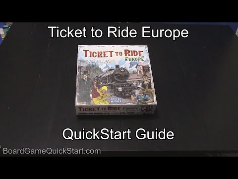 Ticket to ride europe quickstart guide rules