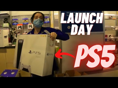 Buying playstation 5 at launch day best buy store vlog ps5