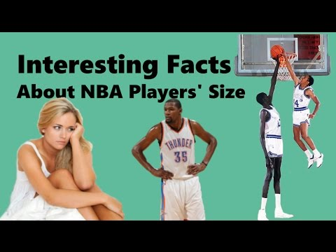 Interesting facts about nba players' size